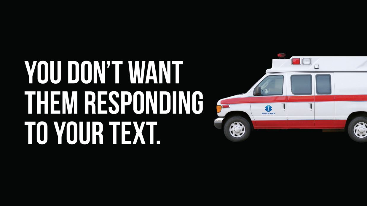 Ambulance responding to text message