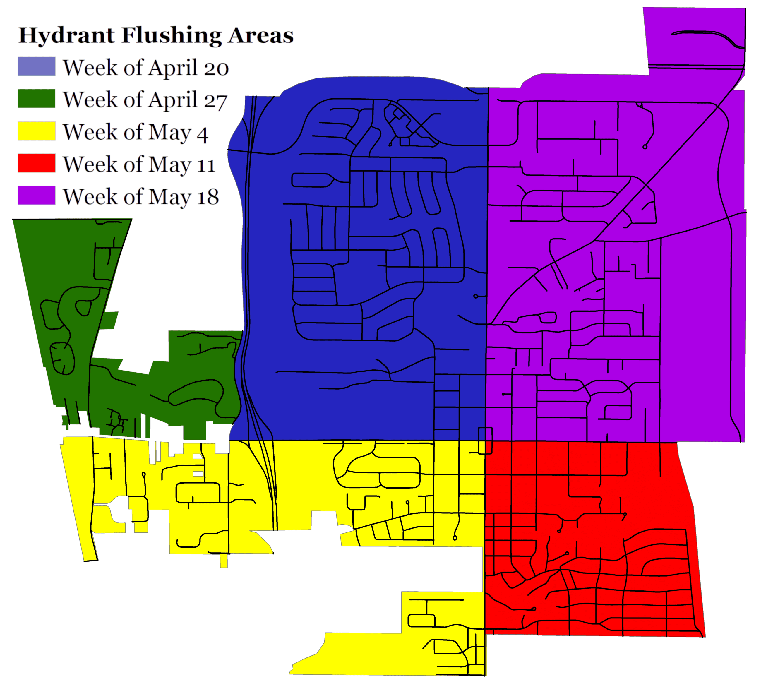 Fire 2020 Hydrant flushing map
