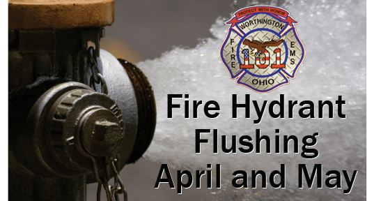 hydrant flushing with text