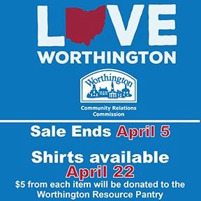 Love Worthington tshirt graphic