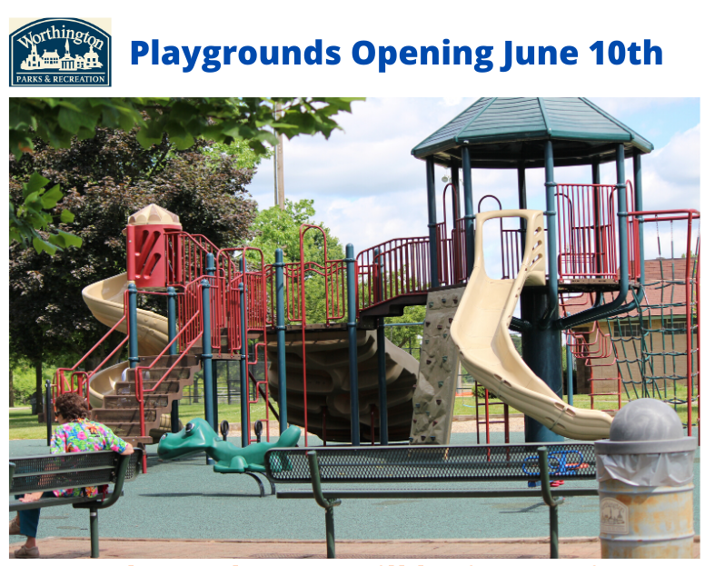 Playgrounds reopening June 10