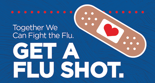 Flu shot clinic graphic for web