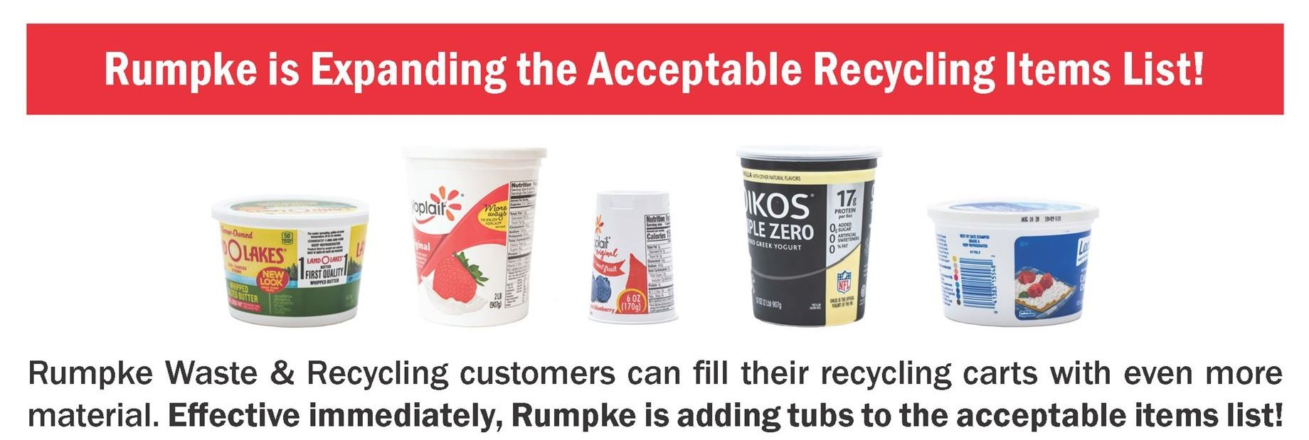 Rumpke Tubs Fact Sheet