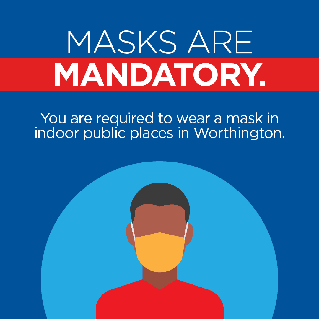 Masks are Mandatory in public places in Worthington 9-14-2021
